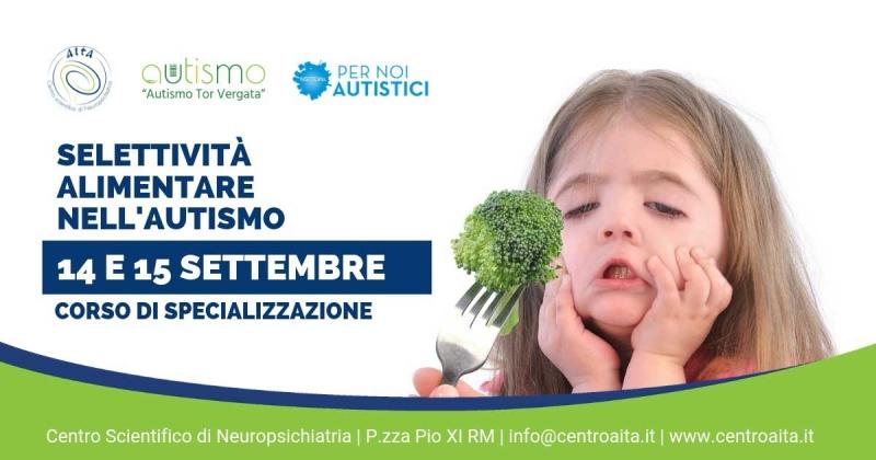 Corso di specializzazione: Selettività alimentare nel disturbo dello spettro autistico